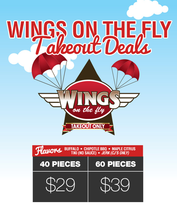 Wings on the Fly Takeout Deals